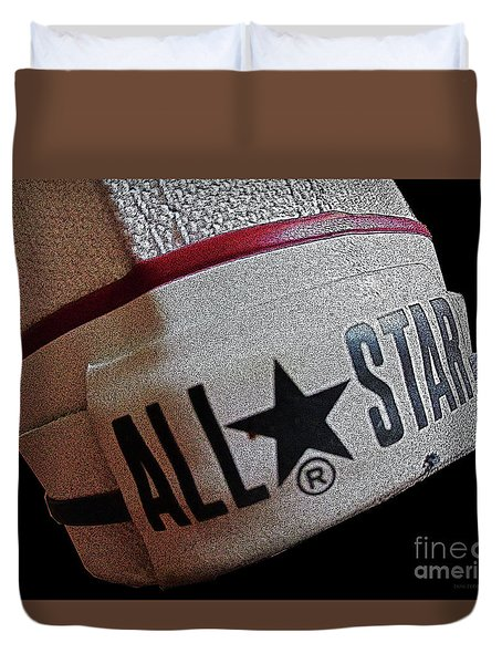 The Converse All Star Rear Label. Duvet Cover