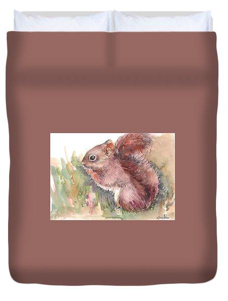 The Red Aqurrel Duvet Cover