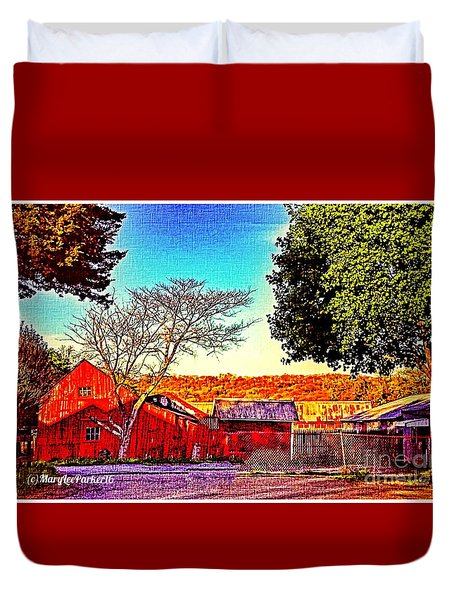 The Red Barn Mixed Media By MaryLee Parker