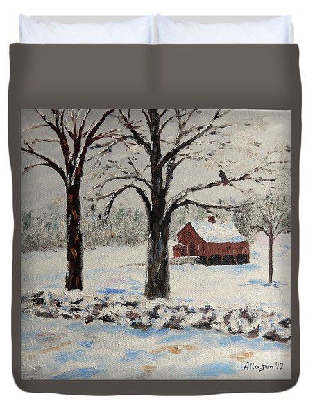 The Red Barn Duvet Cover