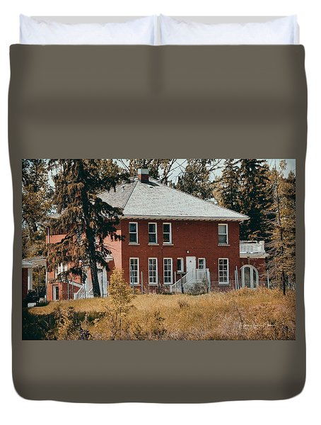 The Red Brick House Duvet Cover by Maria Angelica Maira