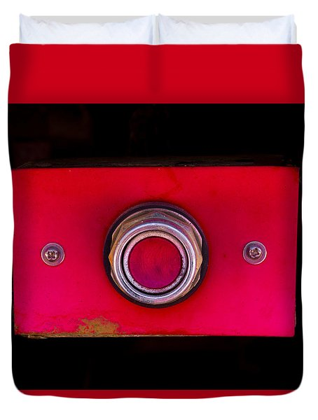 The Red Button Duvet Cover