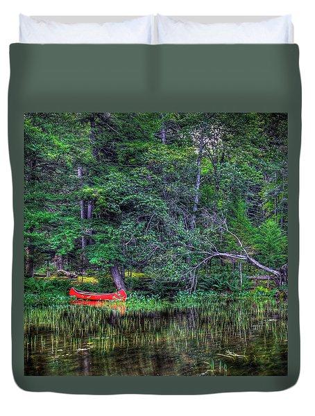 The Red Canoe Duvet Cover