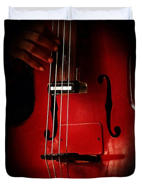 The Red Cello Duvet Cover