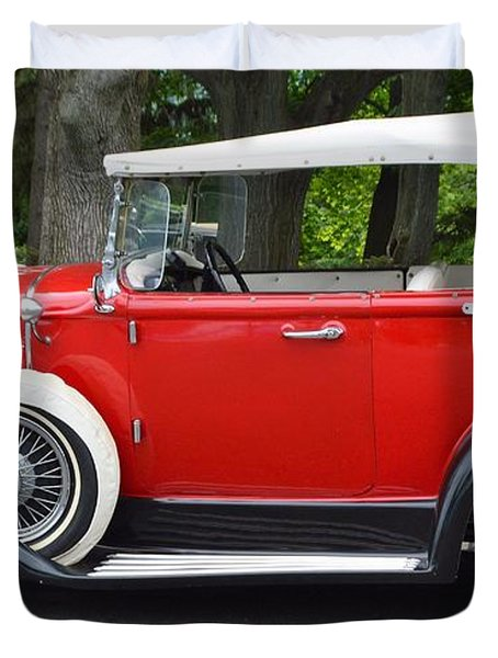 The Red Convertible Duvet Cover