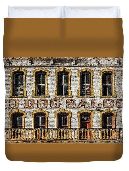 Duvet Cover featuring the photograph The Red Dog by Mitch Shindelbower