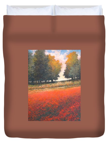 The Red Field #2 Duvet Cover