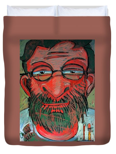 The Red Green Man The Artist Duvet Cover