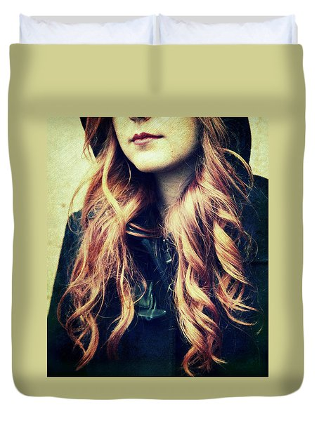 The Red-haired Girl Duvet Cover