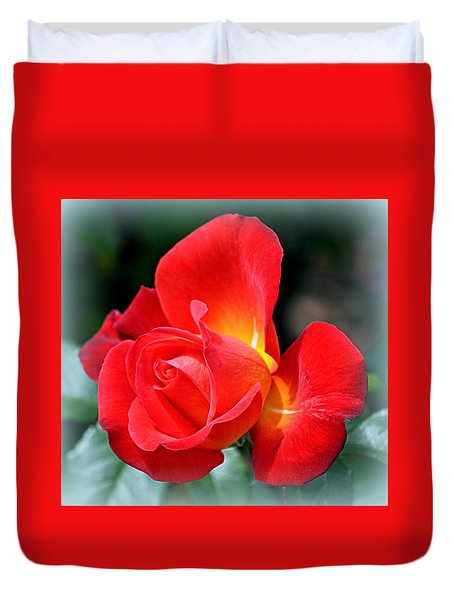 The Red Rose Duvet Cover