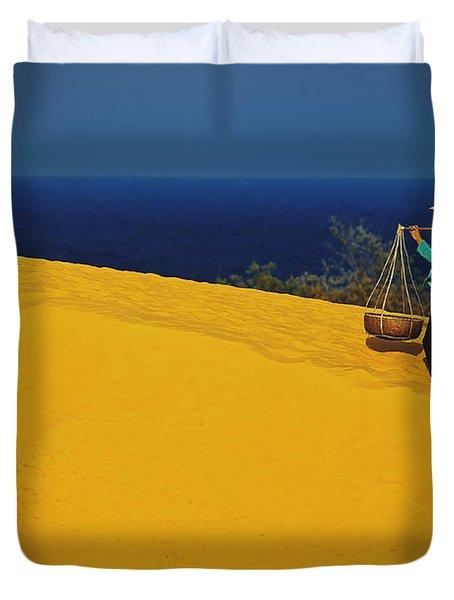 The Red San Dunes Of Mui Ne Vietnam Duvet Cover