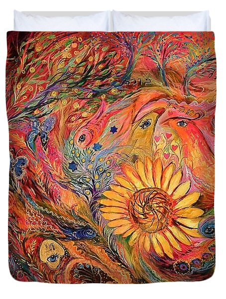 The Red Sirocco Duvet Cover by Elena Kotliarker