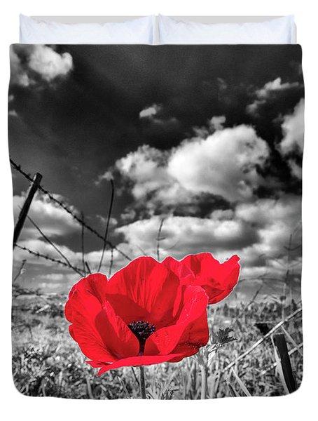 The Red Spot Duvet Cover by Arik Baltinester