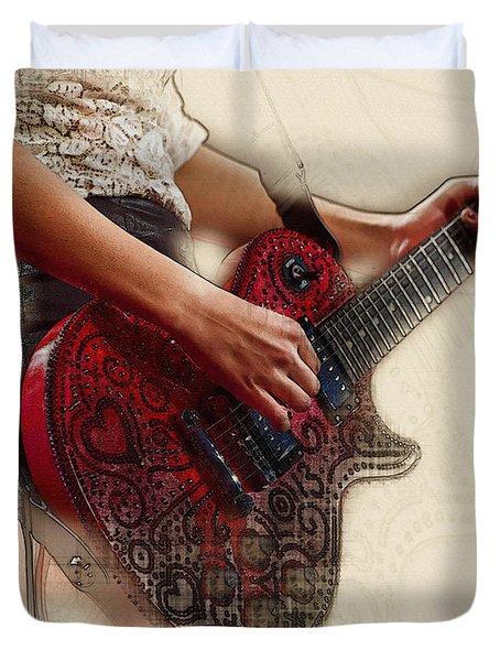The Red Tour Guitar Duvet Cover
