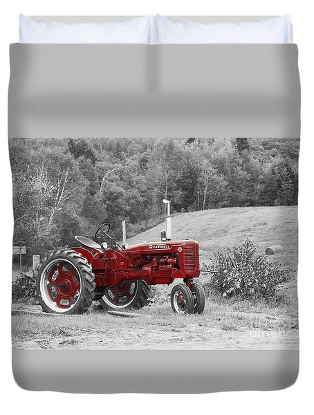 The Red Tractor Duvet Cover