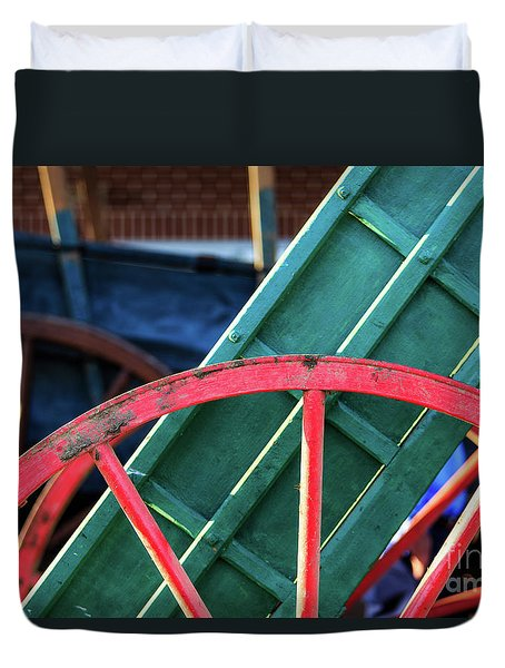 The Red Wagon Wheel Duvet Cover