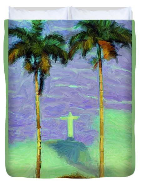 The Redeemer Duvet Cover by Caito Junqueira