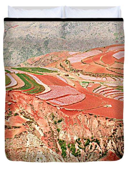 The Redlands, Yunnan, China Duvet Cover