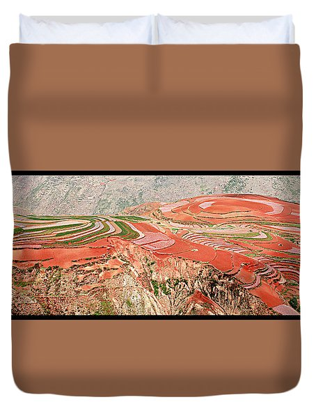 The Redlands, Yunnan, China Duvet Cover