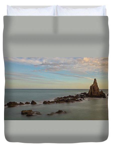 The Reef Of The Cape Sirens At Sunset Duvet Cover