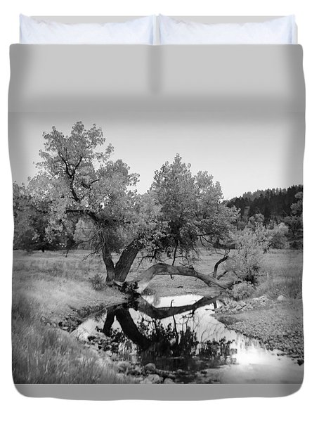 Eye Of The Stream Duvet Cover