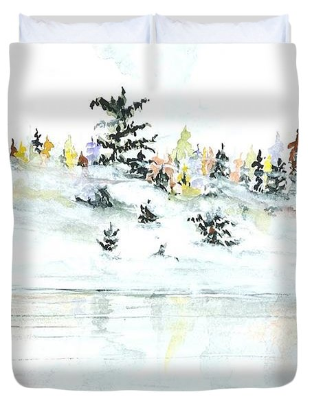 The Reflection Lake Duvet Cover