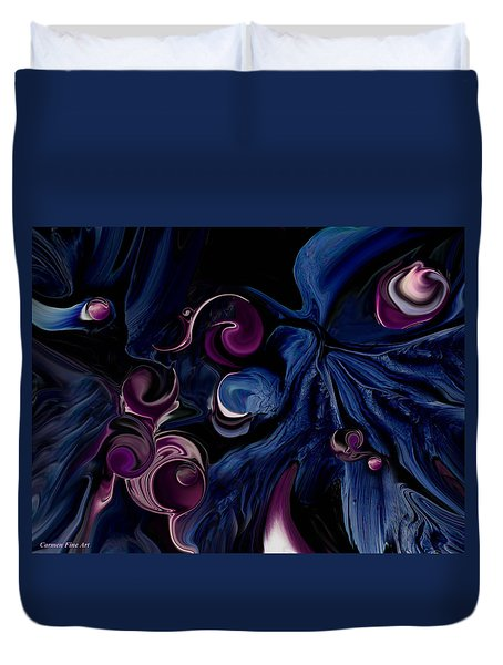 Duvet Cover featuring the digital art The Religious Poetry by Carmen Fine Art