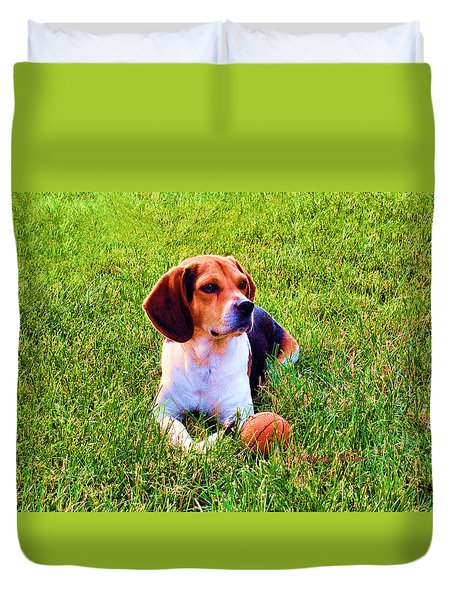 The Reserved Beagle Duvet Cover