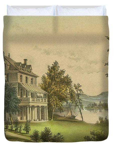 The Residence Of Lord Byron Duvet Cover