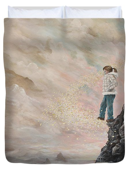 Duvet Cover featuring the painting The Resolute Soul by James  Andrews