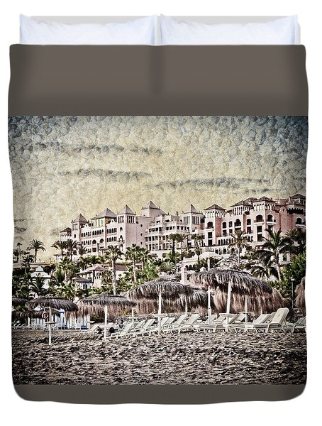 The Resort Beach Duvet Cover by Loriental Photography