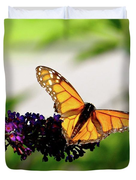 The Resting Monarch Duvet Cover