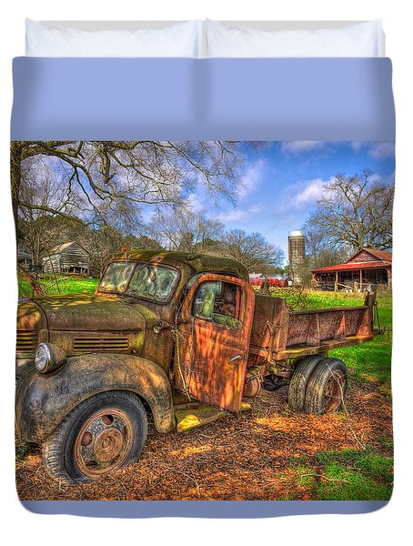 The Resting Place 2 Boswell Farm 1947 Dodge Dump Truck Duvet Cover