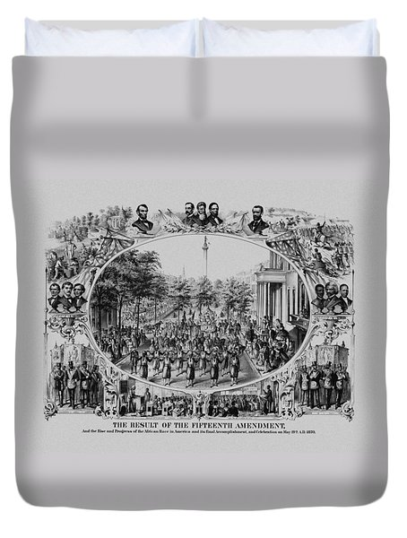 The Result Of The Fifteenth Amendment Duvet Cover by War Is Hell Store