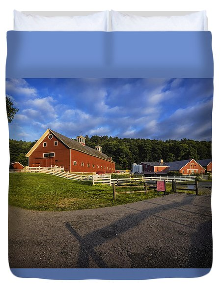 Duvet Cover featuring the photograph The Retreat Farm by Tom Singleton