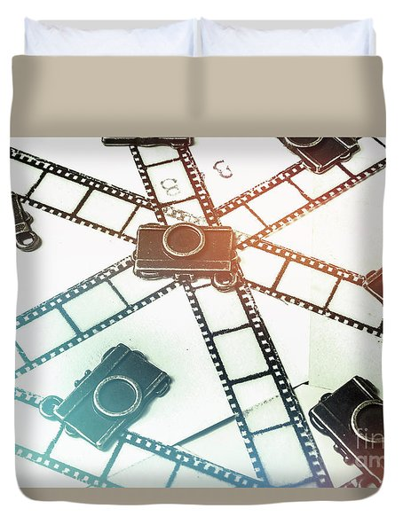 The Retro Camera Reel Duvet Cover