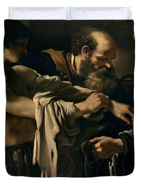The Return Of The Prodigal Son Duvet Cover by Giovanni Francesco Barbieri