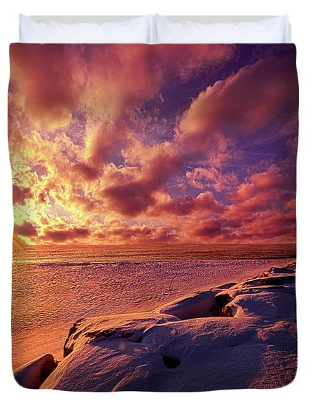 Duvet Cover featuring the photograph The Return by Phil Koch