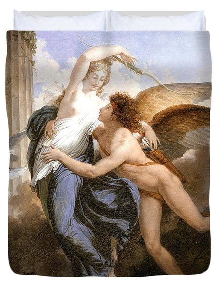 The Reunion Of Cupid And Psyche Duvet Cover