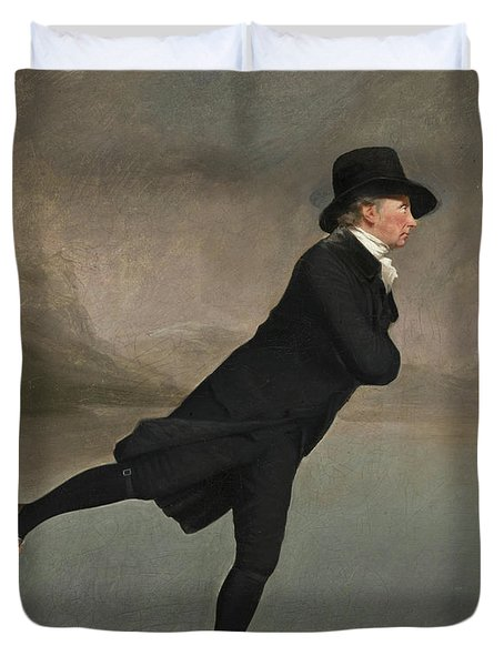 The Reverend Robert Walker Skating On Duddingston Loch Duvet Cover