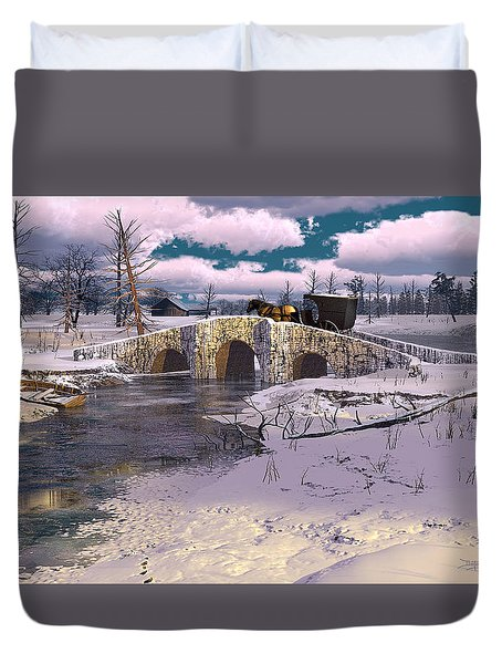 The Rhythm Of Frost Duvet Cover