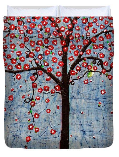 The Rhythm Tree Duvet Cover by Natalie Briney