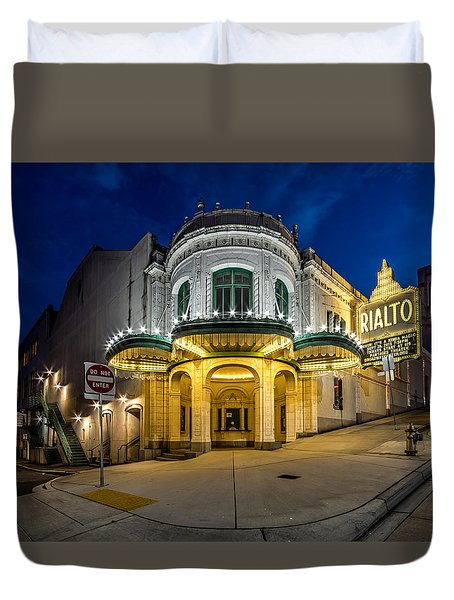 The Rialto Theater - Historic Landmark Duvet Cover by Rob Green