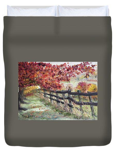 The Rickety Fence Duvet Cover by Roxy Rich
