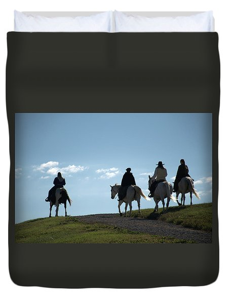 The Ride Duvet Cover by Tim McCullough