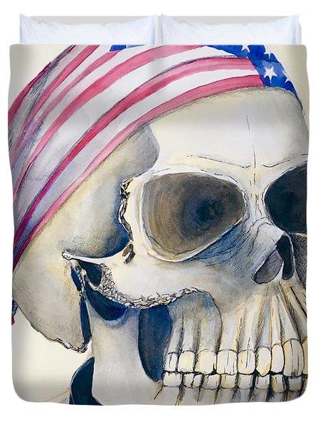 The Rider's Skull Duvet Cover