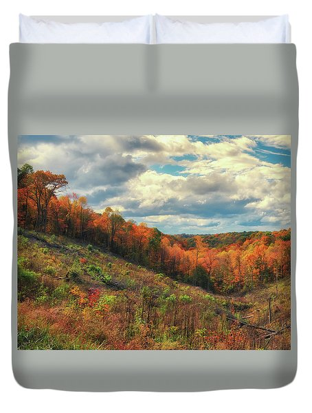 The Ridges Of Southern Ohio In Fall Duvet Cover
