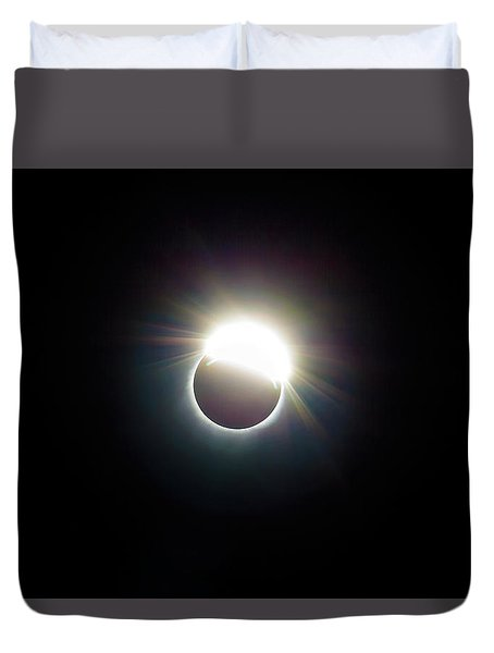 The Ring Of 2017 Solar Eclipse Duvet Cover