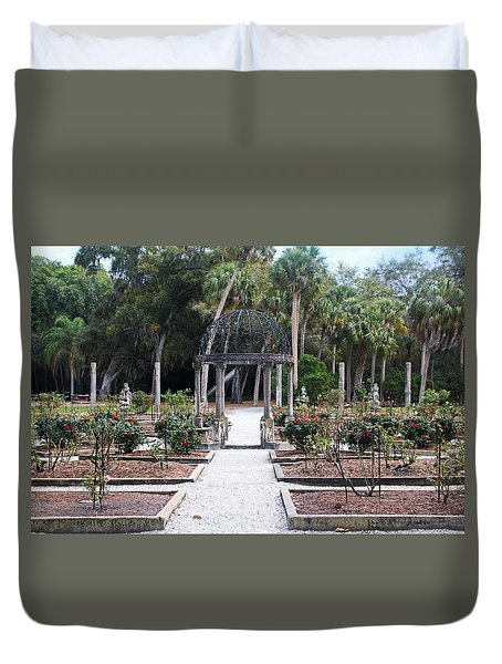 The Ringling Rose Garden Duvet Cover