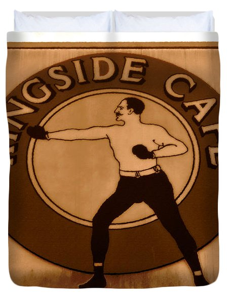 The Ringside Cafe Duvet Cover by David Lee Thompson